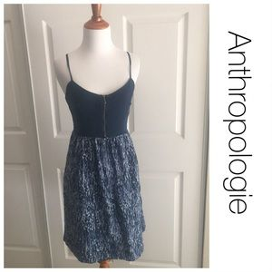 Anthropologoe Moulinette Silk Zipper Dress 4